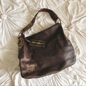 Betsey Johnson Leather Embroidered Hobo Bag 🌸
